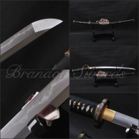 Folded Steel Kobuse Clay Tempered TACHI Sword 9903