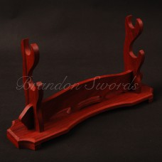 New Style High-grade Two-layer Redwood Stand Holder Rack Display Japanese Samurai Sword Delicate Fitting Nice Wood Craft