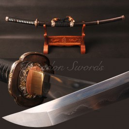 Folded Steel Kobuse Clay Tempered TACHI Sword HE1098